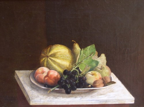 James Long Scudder - Melons and Fruit