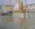 Millard Sheets - Village Reflections in Breton