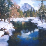 Gregory Hull - Half Dome in Winter